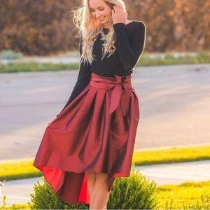 Haute Monde Cranberry Red Formal Skirt 707